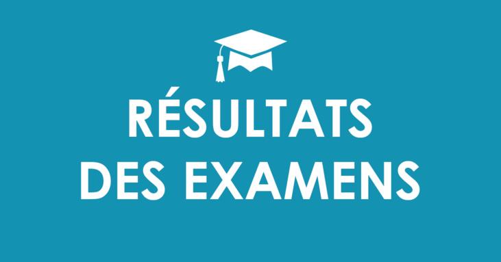Résultats des examens Semestre 1 de l'année universitaire 2019/2020