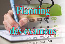 Le planning officiel des examens